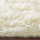 white flokati rug closeup